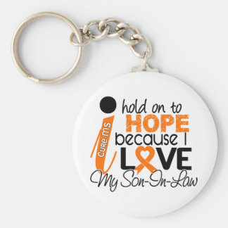 Hope For My Son-In-Law Multiple Sclerosis MS Basic Round Button Keychain