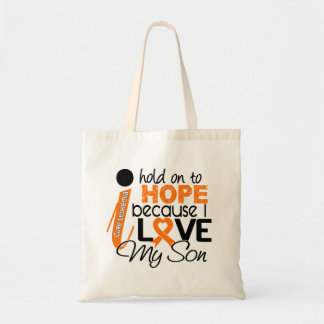 Hope For My Son Leukemia Tote Bags