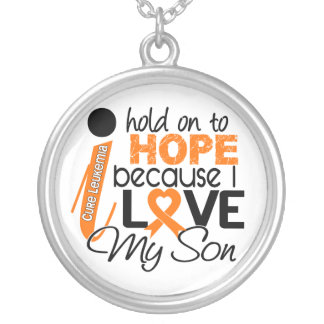 Hope For My Son Leukemia Round Pendant Necklace