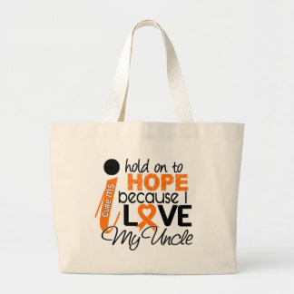 Hope For My Uncle MS Multiple Sclerosis Large Tote Bag