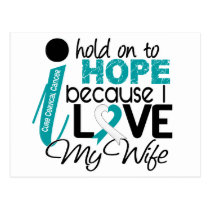 Hope For My Wife Cervical Cancer Postcard