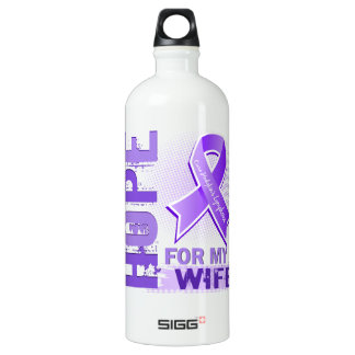 Hope For My Wife Hodgkins Lymphoma Water Bottle