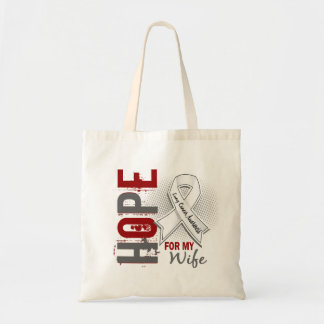 Hope For My Wife Lung Cancer Canvas Bag