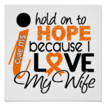 Hope For My Wife Multiple Sclerosis MS Print