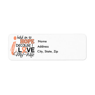 Hope For My Wife Uterine Cancer Label