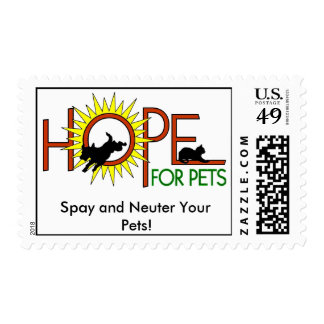 HOPE for Pets, Spay and Neuter You... Stamp