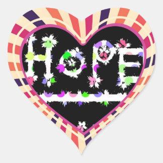 hope for something heart sticker
