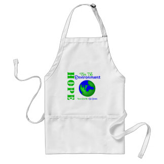Hope For The Environment Save Earth Go Green Adult Apron