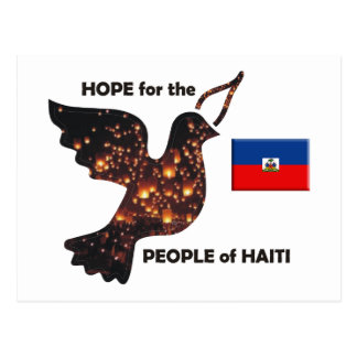 Hope for the people of Haiti - Flag Postcard