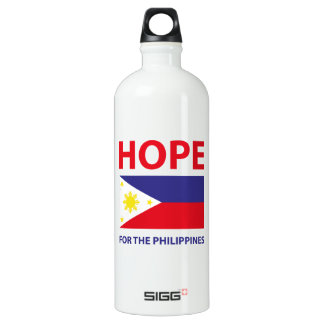 Hope For The Philippines Aluminum Water Bottle