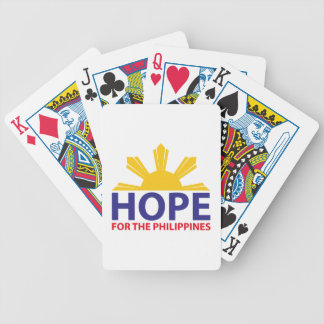 Hope For The Philippines Bicycle Playing Cards