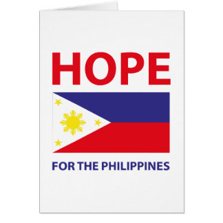 Hope For The Philippines Card