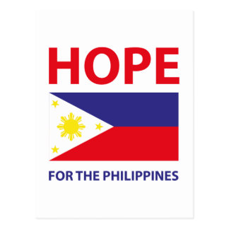 Hope For The Philippines Postcard