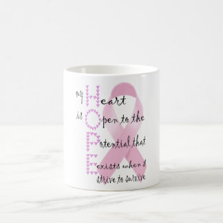 Hope from heart to fight against cancer coffee mug