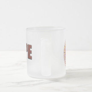 Hope Frosted Glass Coffee Mug