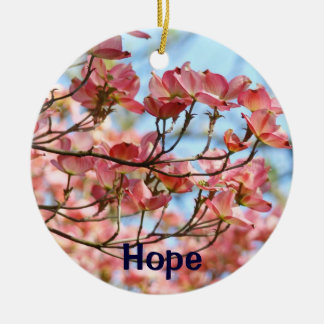 Hope gifts hanging Ornaments Pink Dogwood Tree