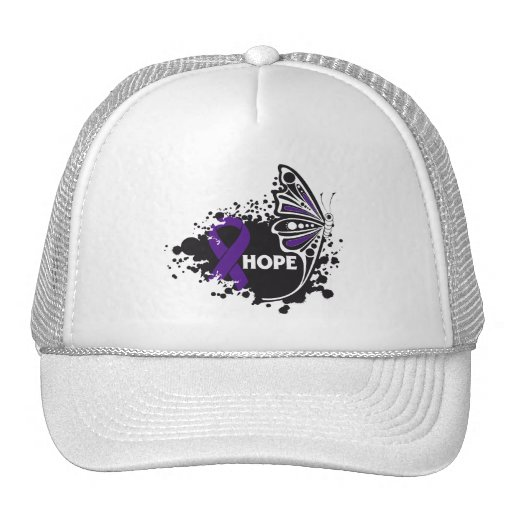 Hope GIST Cancer Butterfly Mesh Hat