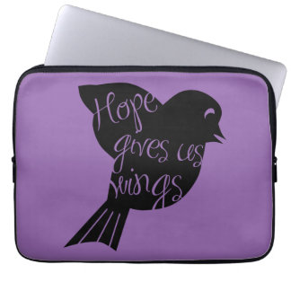 Hope Gives Us Wings 2 Laptop Sleeve