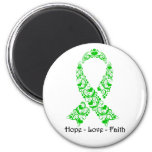 Hope Green Awareness Ribbon 2 Inch Round Magnet