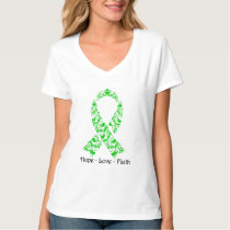 Hope Green Awareness Ribbon T-Shirt