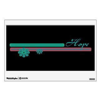 Hope green pink wall sticker