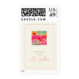 Hope Grows Where Love Blooms Postage Stamps
