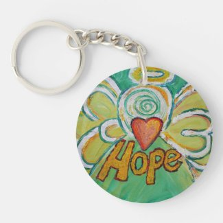 Hope Guardian Angel Word Custom Keychain