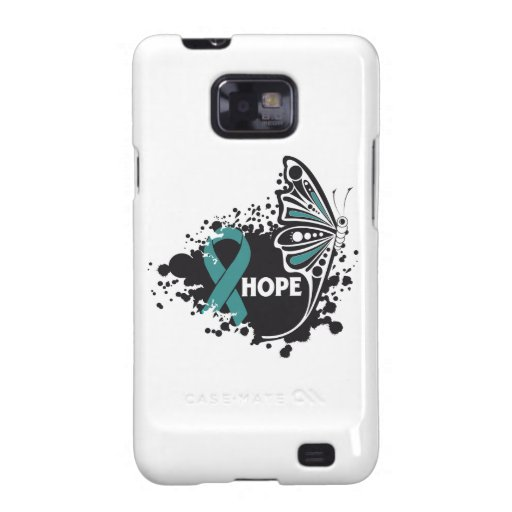 Hope Gynecologic Cancer Butterfly Galaxy SII Covers