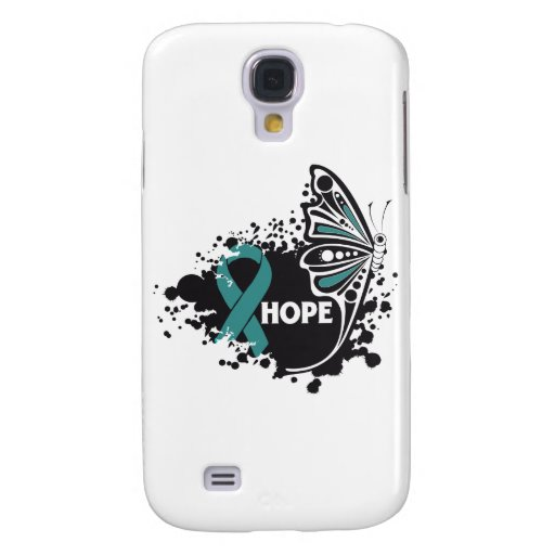 Hope Gynecologic Cancer Butterfly Samsung Galaxy S4 Case