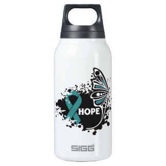 Hope Gynecologic Cancer Butterfly 10 Oz Insulated SIGG Thermos Water Bottle