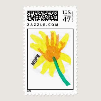 Hope Handprint Flower Stamp