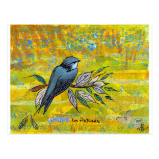 Hope Has Feathers Postcard
