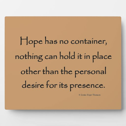 hope has no container display plaque