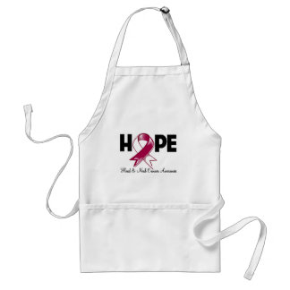 Hope Head and Neck Cancer Awareness Adult Apron