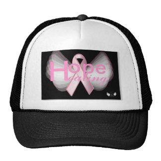 Hope Healing Angelic  Pink RibbonCap-Cust. Trucker Hats