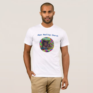 Hope Healing Church Christian Jesus Cat T-Shirt