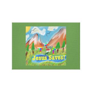 Hope Healing Church Jesus Saves Canvas Print