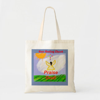 Hope Healing Church Praise God Angel Tote Bag