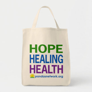 Hope, Healing, Health Grocery Tote-Full Color Grocery Tote Bag