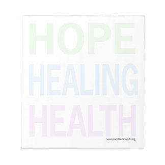 Hope, Healing, Health Notepad-Full Page Color Text Note Pads