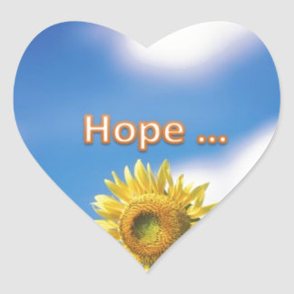 hope heart sticker