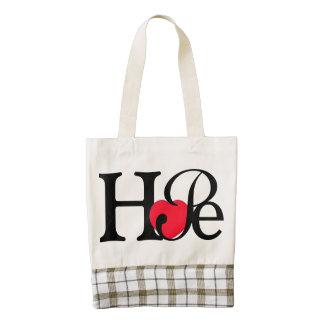 Hope Heart Zazzle HEART Tote Bag