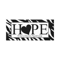 Hope Heart Zebra Print Wrapped Canvas Sign
