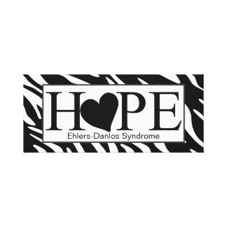 Hope Heart Zebra Print Wrapped Canvas Sign Stretched Canvas Prints