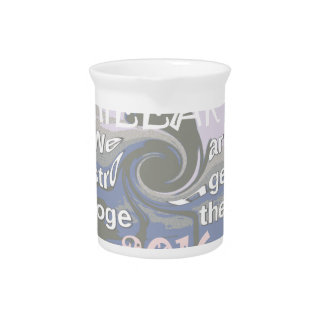 Hope  Hillary USA We Are Stronger Together Beverage Pitcher