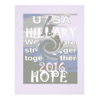 Hope  Hillary USA We Are Stronger Together Letterhead