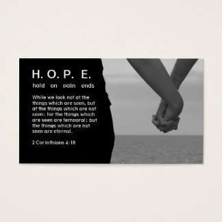 HOPE Hold On Pain Ends Business Card