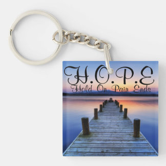 HOPE Hold On Pain Ends Keychain Acrylic Key Chains