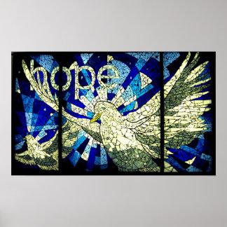 Hope Holy Spirit Dove Christian Art Poster