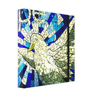 Hope Holy Spirit Dove Stained Glass Canvas Art